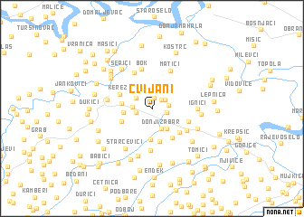 map of Cvijani