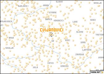 map of Cvijanovići