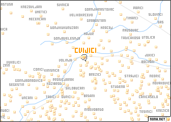 map of Cvijići