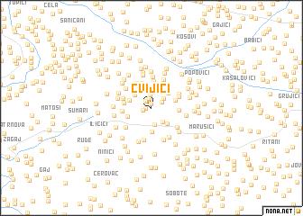 map of Cvijići