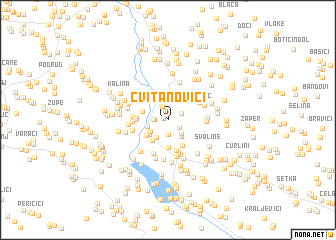 map of Cvitanovići