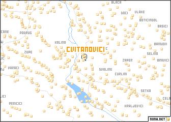 map of Cvitanovići