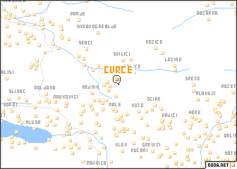 map of Cvrče
