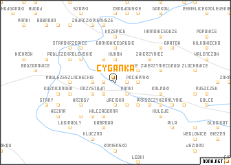 map of Cyganka