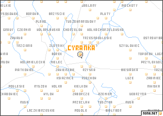 map of Cyranka