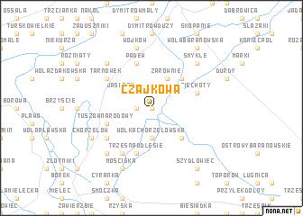 map of Czajkowa