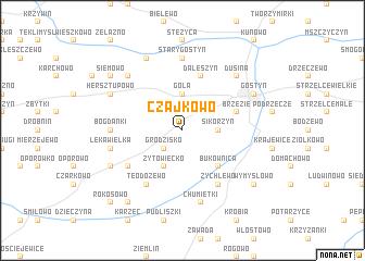 map of Czajkowo