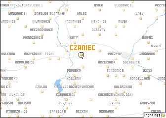 map of Czaniec