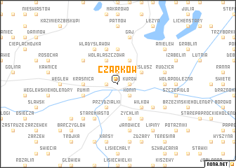 map of Czarków