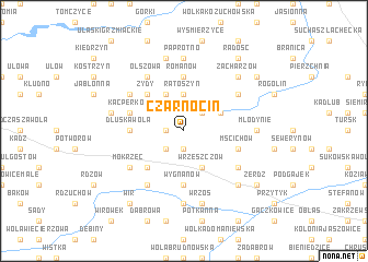 map of Czarnocin