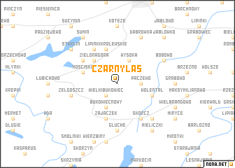 map of Czarnylas