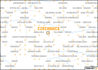 map of Czechowice