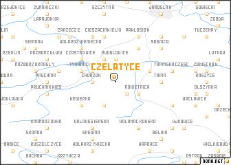 map of Czelatyce