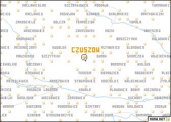 map of Czuszów