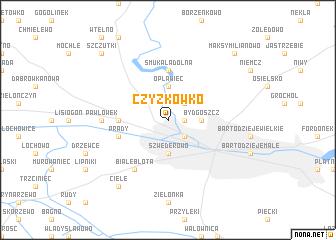 map of Czyżkówko