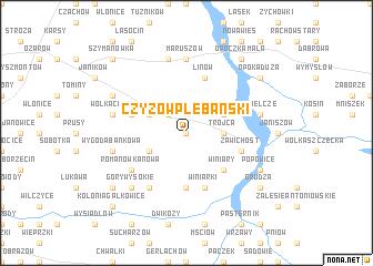 map of Czyżów Plebański