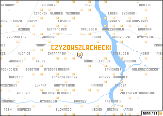 map of Czyżów Szlachecki