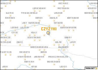 map of Czyżyki