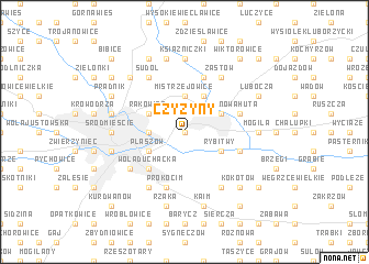 map of Czyżyny