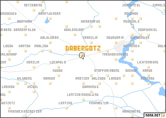 map of Dabergotz