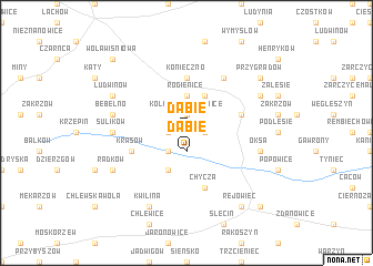 map of Dąbie