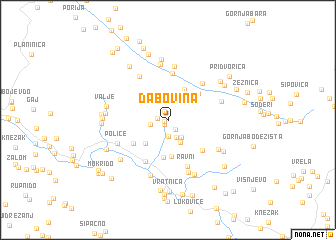 map of Dabovina