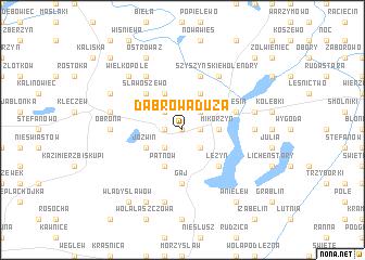 map of Dąbrowa Duża