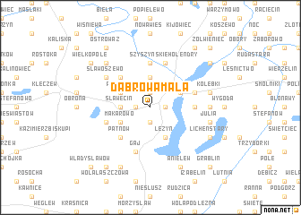 map of Dąbrowa Mała