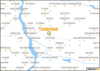 map of Dąbrowa