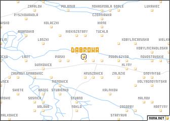 map of Dąbrowa