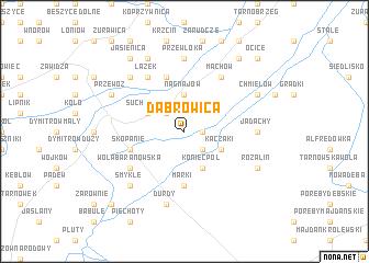 map of Dąbrowica