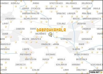 map of Dąbrówka Mała