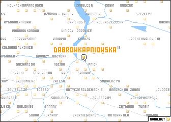 map of Dąbrówka Pniowska