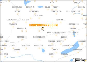 map of Dąbrówka Pruska