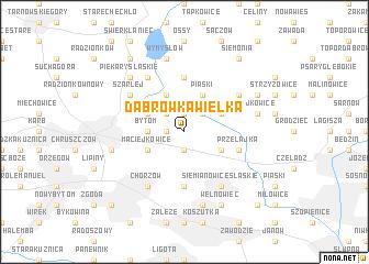 map of Dąbrówka Wielka