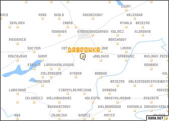 map of Dąbrówka