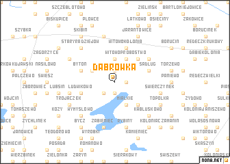 map of Dąbrowka