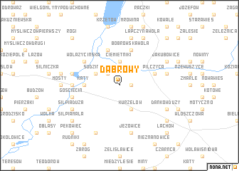 map of Dąbrowy
