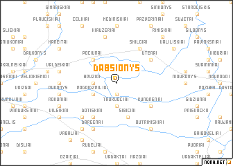 map of Dabšionys