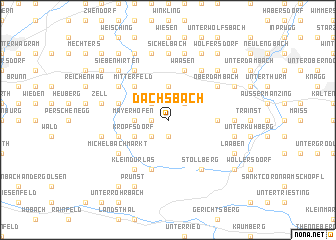 map of Dachsbach