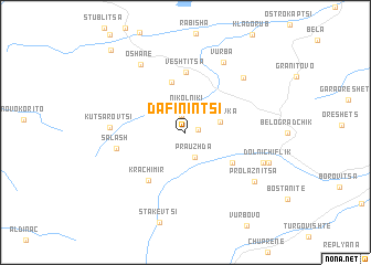 map of Dafinintsi