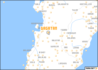map of Dagatan