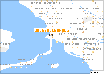 map of Dagebüllerkoog