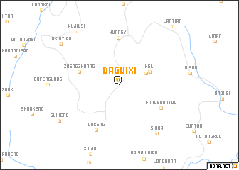 map of Daguixi
