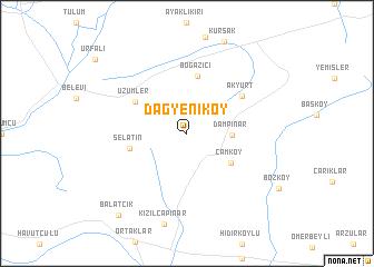 map of Dağyeniköy
