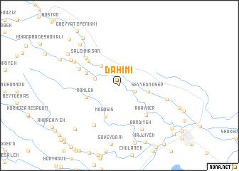 map of Daḩīmī