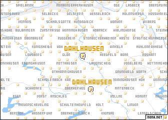 map of Dahlhausen