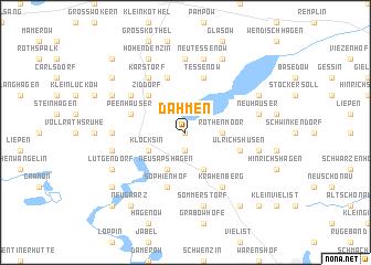 map of Dahmen