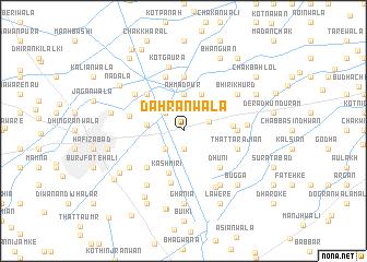 map of Dahrānwāla