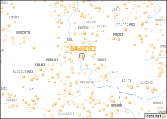 map of Dajičići